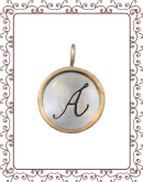 """disc 4-C: 3/4"""" silver disc with gold rim"""