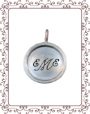 """disc 4-B: 3/4"""" silver disc with silver rim"""