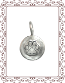 DS 7-A Raised Dog Paw Charm