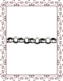 rolo chain 2:  3.0mm sterling silver rolo link chain
