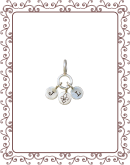 cluster charm 1-A:  silver disc cluster charm