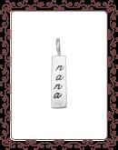 cubic bar 2-A:  medium silver cubic bar
