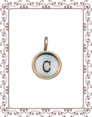 """disc 2-C:  1/2"""" silver disc with gold rim"""