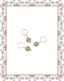 droplet 1-A:  adventurine gemstone droplet