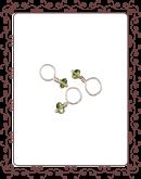 droplet 3-A:  peridot gemstone droplet
