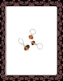 droplet 4-A:  amber gemstone droplet