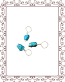 droplet 5-A:  chip turquoise gemstone droplet