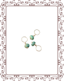 droplet 6-A:  chinese turquoise gemstone droplet