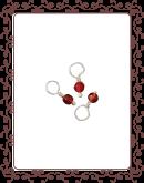 droplet 7-A:  carnelian gemstone droplet