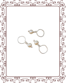 droplet 11-A:  freshwater pearl gemstone droplet