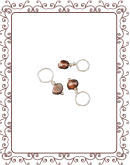 droplet 12-A:  freshwater peacock pearl gemstone droplet