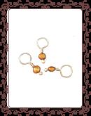 droplet 13-A:  freshwater golden pearl gemstone droplet