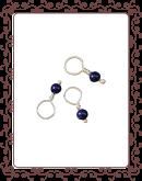 droplet 15-A:  lapis gemstone droplet
