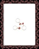 droplet 16-A:  pink tourmeline gemstone droplet