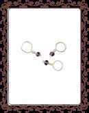 droplet 21-A:  dark amethyst gemstone droplet