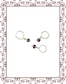 droplet 21-A:  dark amethyst gemstone droplet