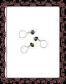 droplet 22-A:  chrome tourmeline gemstone droplet