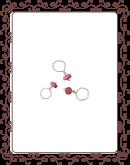 droplet 24-A:  ruby  gemstone droplet