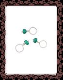 droplet 25-A:  emerald  gemstone droplet