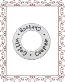 large charm charm 1-B:  large silver washer