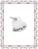 medium charm 1-B:  medium silver heart