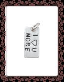 medium charm 1-C:  medium silver tag