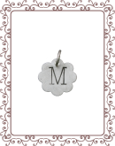 small charm 1-A:  small silver flower