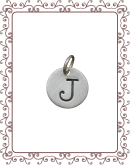 small charm 1-C:  small silver disc