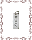small charm 4-A:  small silver tag