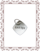 cupped charm  1-B: small silver square