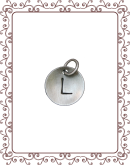 cupped charm 1-C: small silver disc