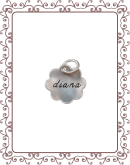 cupped charm 1-A:  small silver flower