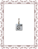 """square 1-A:   3/8""""  silver simple square"""