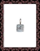 """square 1-B:  3/8"""" silver square with silver rim"""