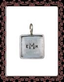"""square 3-B: 5/8"""" silver square with silver rim"""