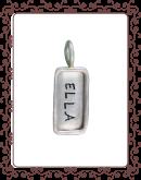 tag 1-B:  small silver  tag with silver rim