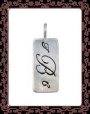 tag 2-A:  medium silver simple tag