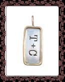 tag 2-C: medium silver tag with gold rim